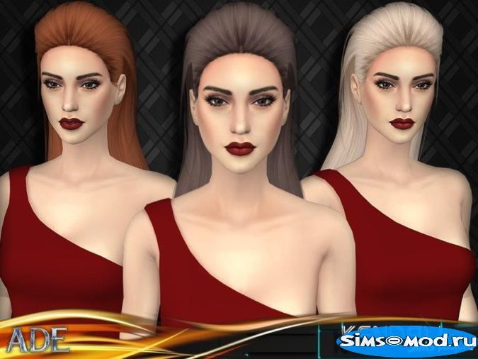 Прическа Kendall для Симс 4