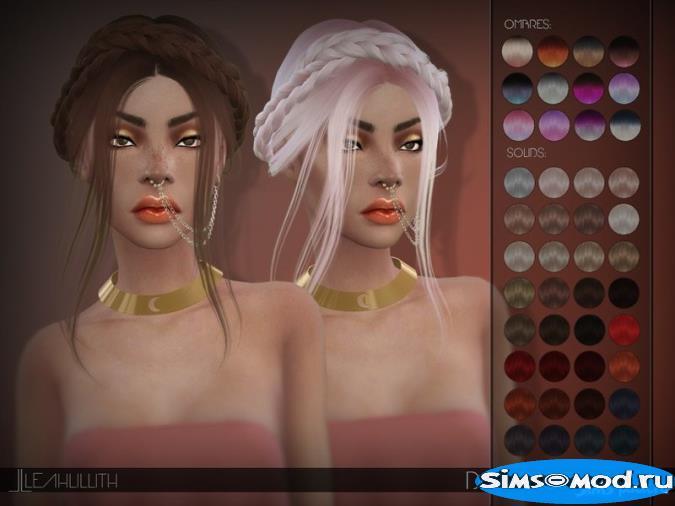 Прическа Dreamgirl для Симс 4