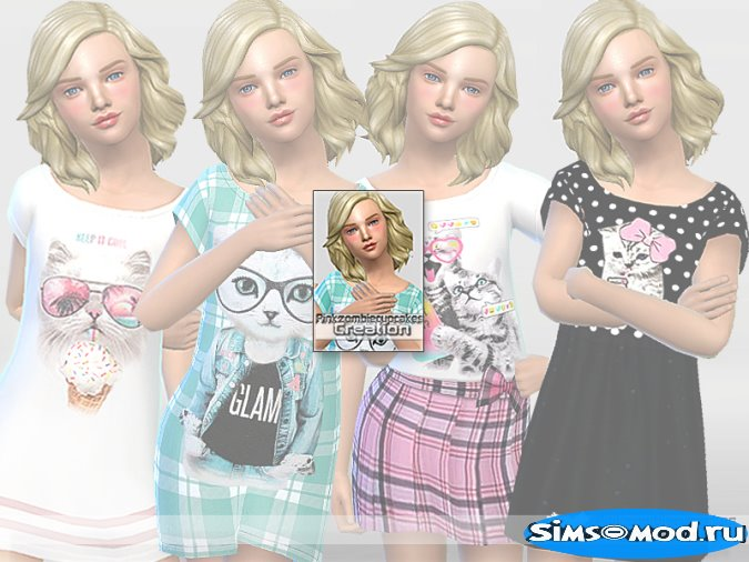 PZC_Cute Cats Nightgowns Collection