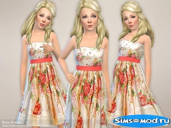 Платье Rose для Симс 4