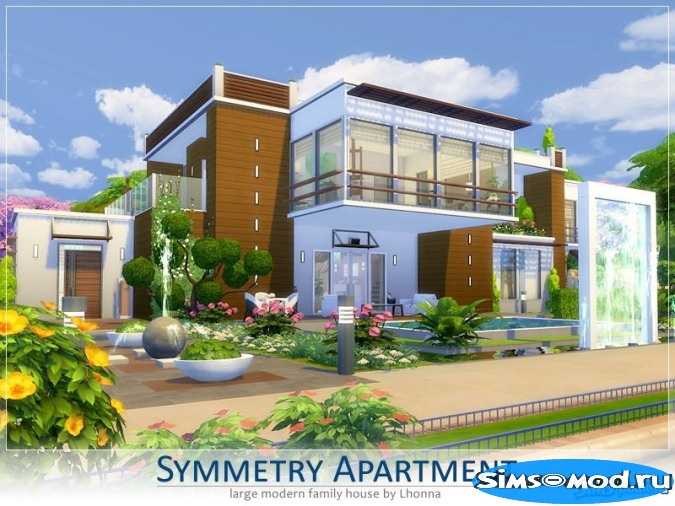 Дом Symmetry Apartment от Lhonna для Симс 4