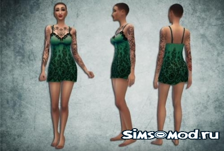 Green Lace Nightie для симс 4