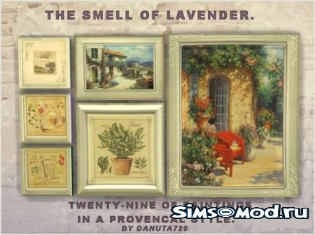 Картины The smell of Lavender для симс 4