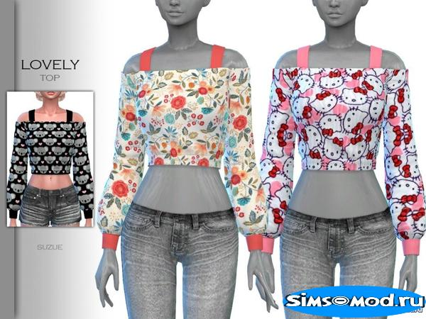 Топ Lovely Top от Suzue для Симс 4