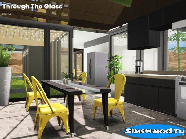 Дом Through The Glass от Pralinesims для Симс 4