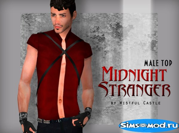 Футболка Midnight Stranger от WistfulCastle для Симс 4