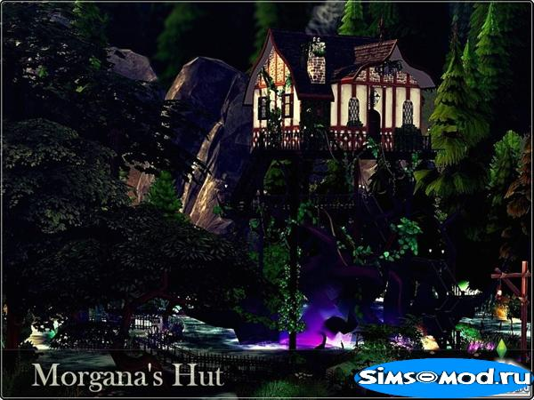 Дом Morgana Hut от nobody1392 для Симс 4