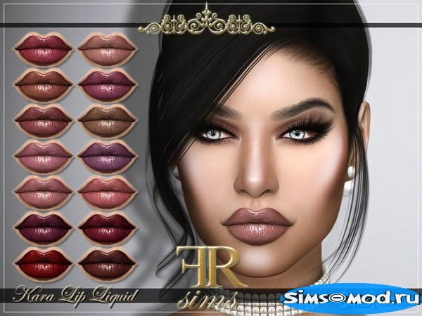 Помада Kara от FashionRoyaltySims для Симс 4