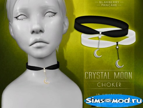 Чокер Crystal Moon для Симс 4