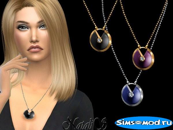 Кулон Gemstone locket для Симс 4