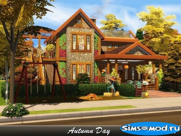 Дом Autumn Day для Симс 4