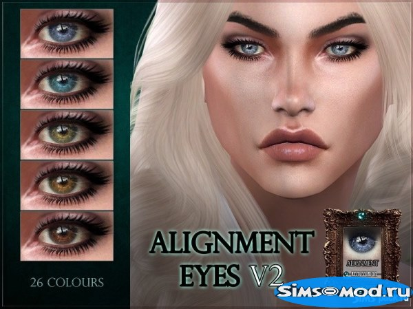 Линзы Alignment Eyes V2 для Симс 4