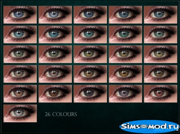 Линзы Alignment Eyes V2 от RemusSirion для Симс 4