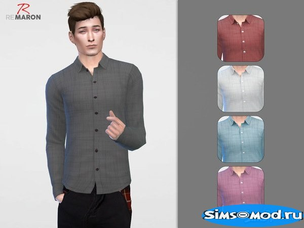 Рубашка Button Up для Симс 4