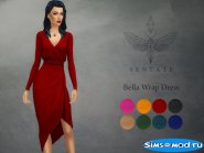 Bella Wrap Dress для Симс 4