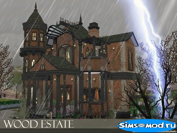 Дом Wood Estate от Ineliz для Симс 4