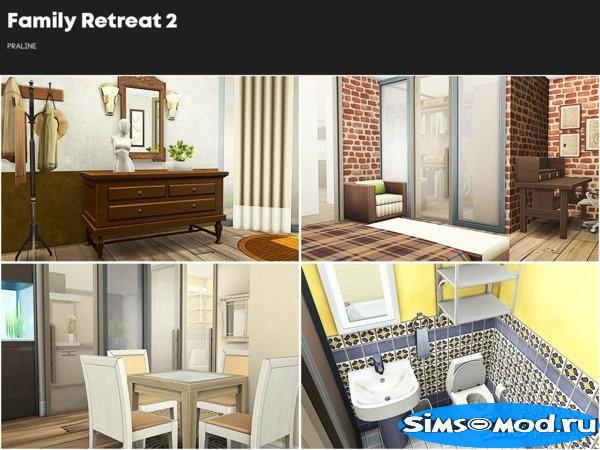 Дом Family Retreat 2 от Pralinesims для Симс 4