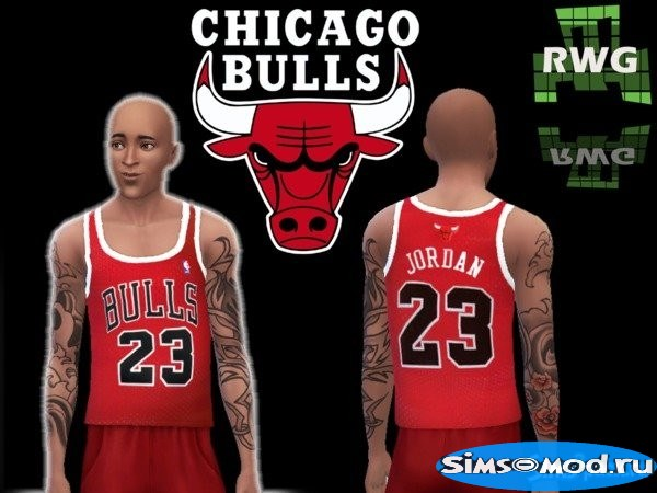 Майка Michael Jordan CHICAGO BULLS 23 для Симс 4