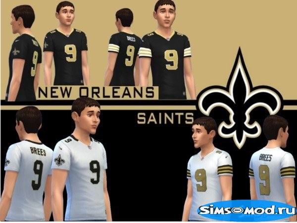 Футболка New Orleans Saints для Симс 4