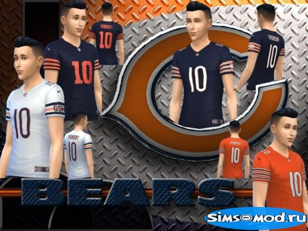 Футболка Chicago Bears для Симс 4