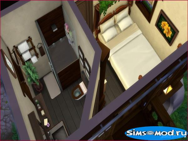 Дом Hideaway Carriage H от LCSims для Симс 4