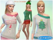 Christmas Sweater для Симс 4