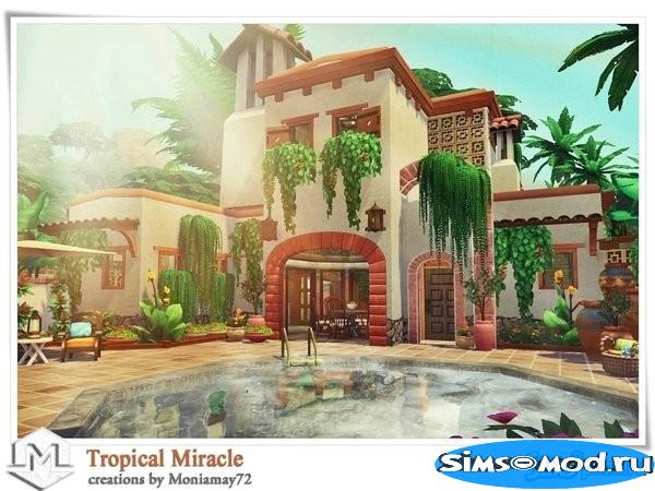 Дом Tropical Miracle от Moniamay72 для Симс 4