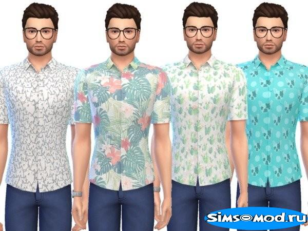 Рубашка Snazzy Button-Up для Симс 4