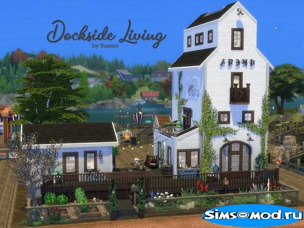 Дом Dockside Living от Suanin для Симс 4