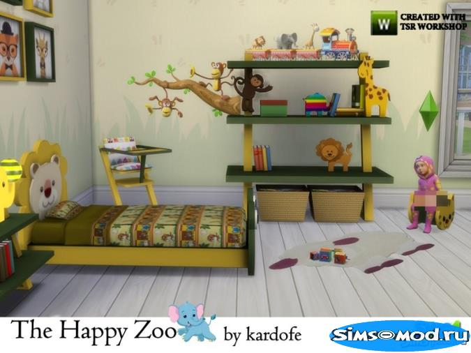 Детская The Happy Zoo от kardofe для Симс 4