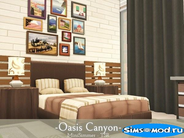 Дом Oasis Canyon от Mini Simmer для Симс 4