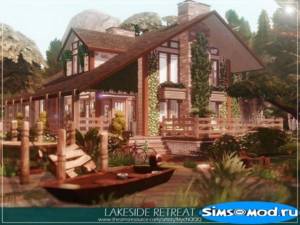 Дом Lakeside Retreat от MychQQQ для Симс 4
