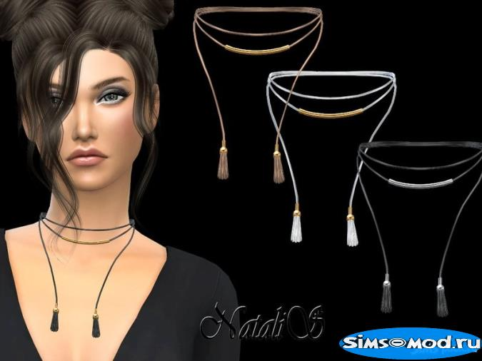 Колье Metal Detail Tassel Design для Симс 4