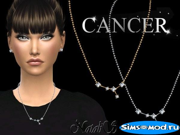 Колье Cancer zodiac для Симс 4