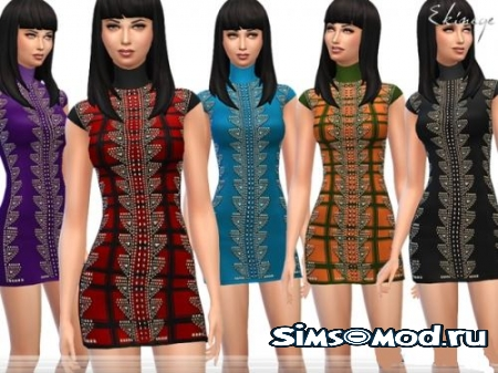 Платье Studded Knit Dress для симс 4
