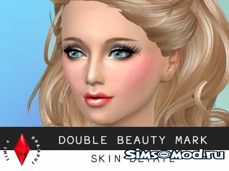 Double Beauty Mark Skin Detail от SIms4Krampus для симс 4