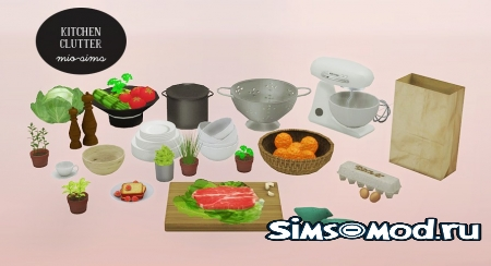 Сет kitchen clutter conversions Sims 4